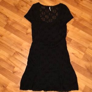 Adorable Black Free People Lace Dress